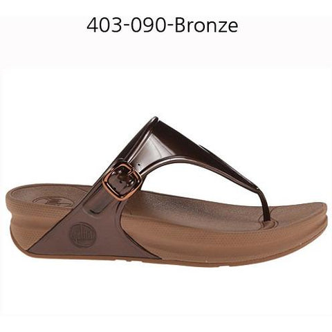 FITFLOP Superjelly Rubber Womens Sandal Bronze 403-090