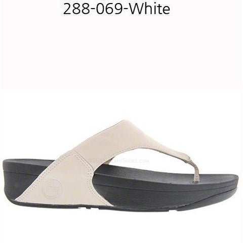 FITFLOP LULU(TM) IN LEATHER Antique White 288-069
