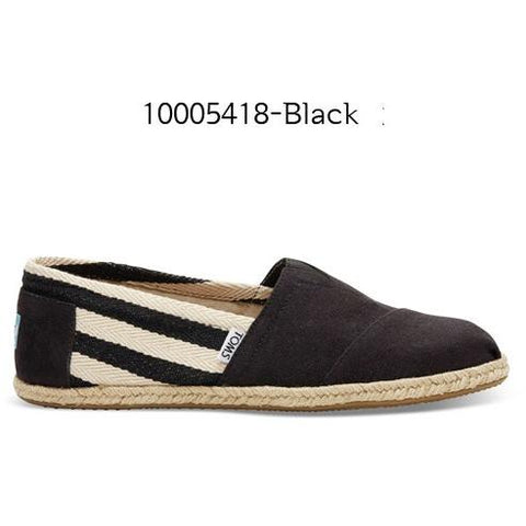 Toms Stripe University Men's Classic 10005418 Black