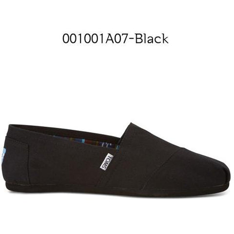 Toms Canvas Men's Classic 10002931 Black on Black
