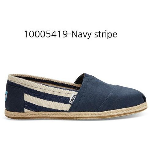 Toms Stripe University Women's Classic 10005419 Navy