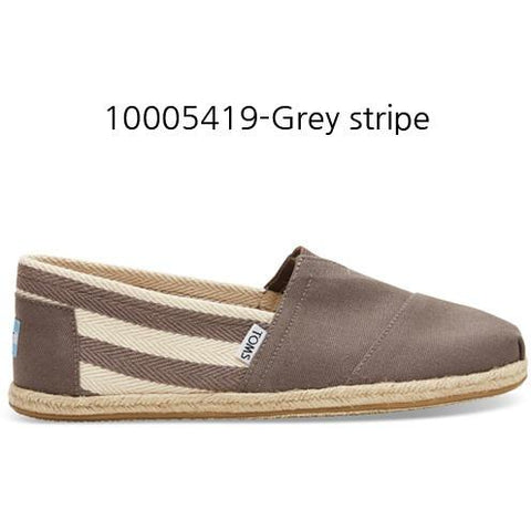 Toms Stripe University Women's Classic 10005419 Dark Grey