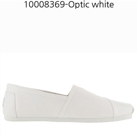 TOMS Canvas Mens Classic Casual Shoe Optic White 10008369