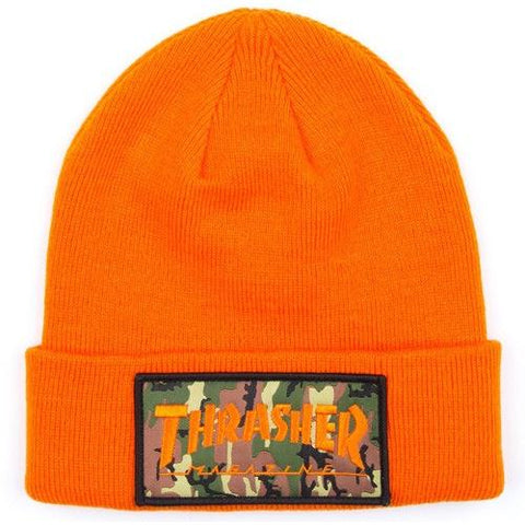 THRASHER Patch Beanie Orange 3131335