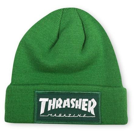 THRASHER Patch Beanie Green 3131335