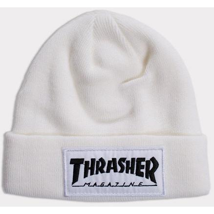 THRASHER Patch Beanie White 3131335