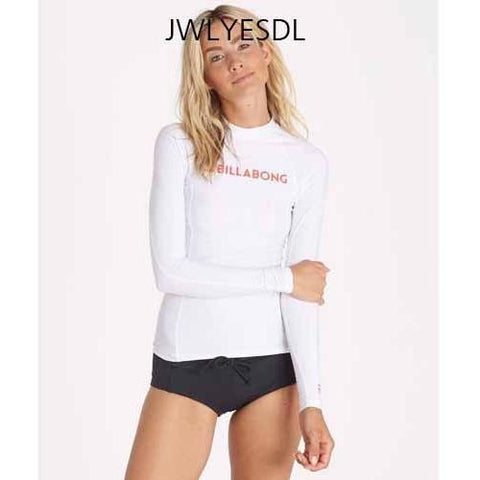 BILLABONG Surf Dayz Long Sleeve Rashguard White JWLYESDL