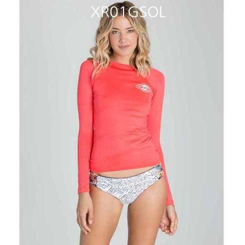 BILLABONG Sol Searcher Long Sleeve Rashguard REDHot XR01GSOL