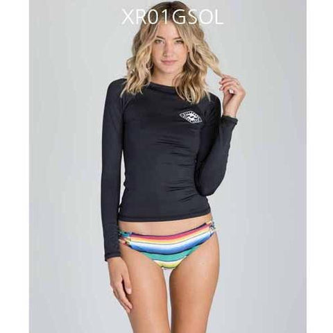 BILLABONG Sol Searcher Long Sleeve Rashguard BlackSands XR01GSOL