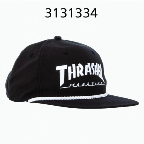 Thrasher Rope Snapback Black/White 313133