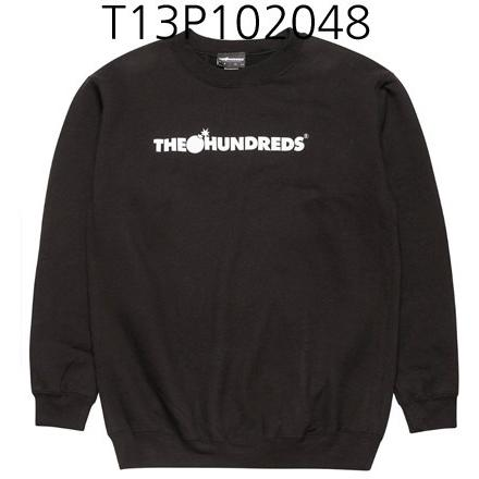 THE HUNDREDS Forever Bar Crewneck Black T13P102048