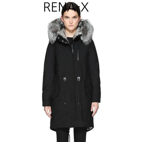MACKAGE Rena-W Down Filled Wool Parka With Fur Lined Hood Black RENA-W