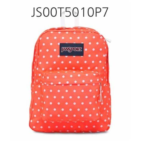 JANSPORT Superbreak Backpack Tahitian/Orange/Whitedots JS00T5010P7