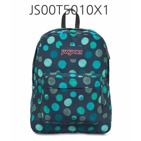 JANSPORT Superbreak Backpack Mult/Navy/ConnectFour JS00T5010X1