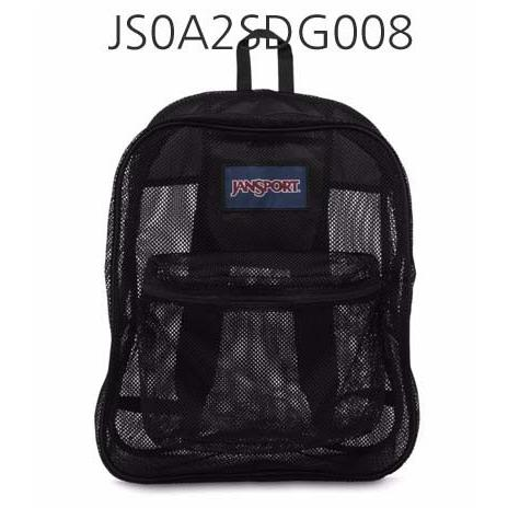 JANSPORT Mesh Pack Backpack Black JS0A2SDG008