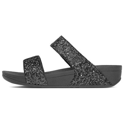 Fitflop Womens Glitterball Slide Sandals Black H24-001