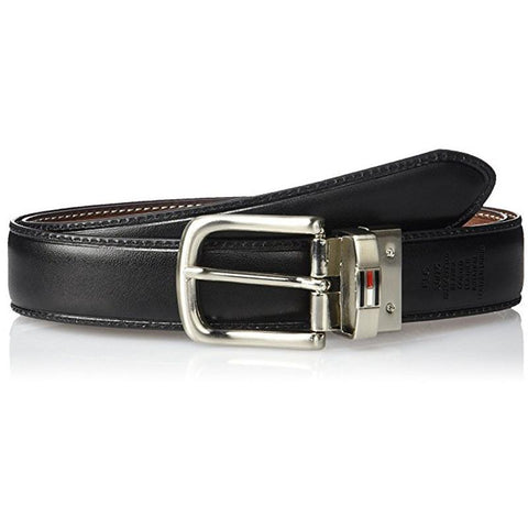 Tommy Hilfiger Men's Leather Reversible Belt Brown/Black 11TL08X014