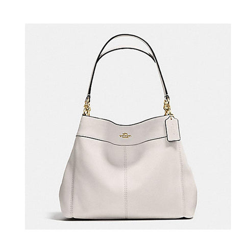 Coach Lexy Shoulder Bag In Pebble Leather Chalk F57545