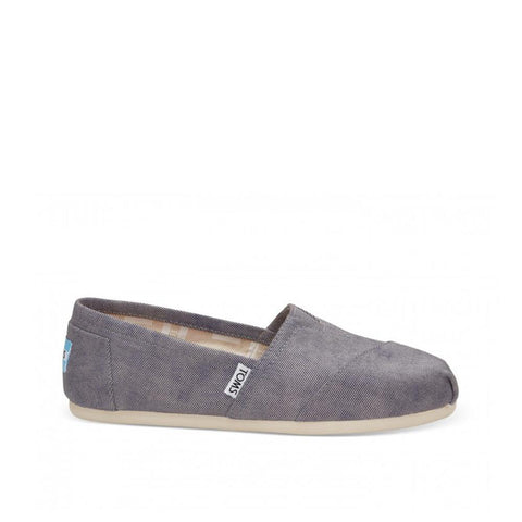 Toms Womens Canvas Slip-on Alpargata Flat Slate Blue 10009727