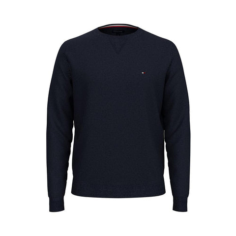 Tommy Hilfiger Men's Signature Solid Crew Neck Sweater Sky Captain 78J0478 410