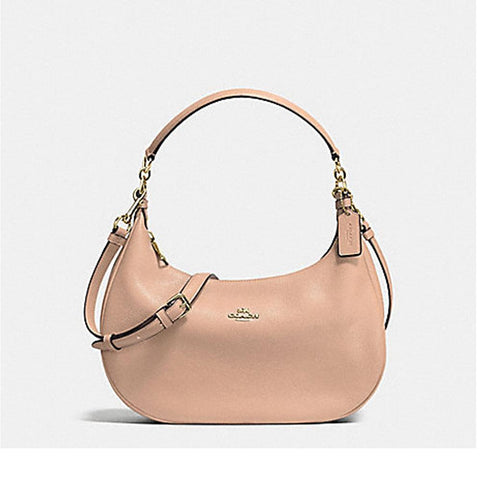 Coach Harley East/West Hobo In Pebble Leather Nude Pink F38250