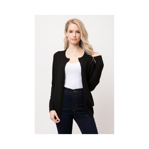 Aplaze Shank Button Down Cardigan Black SW650