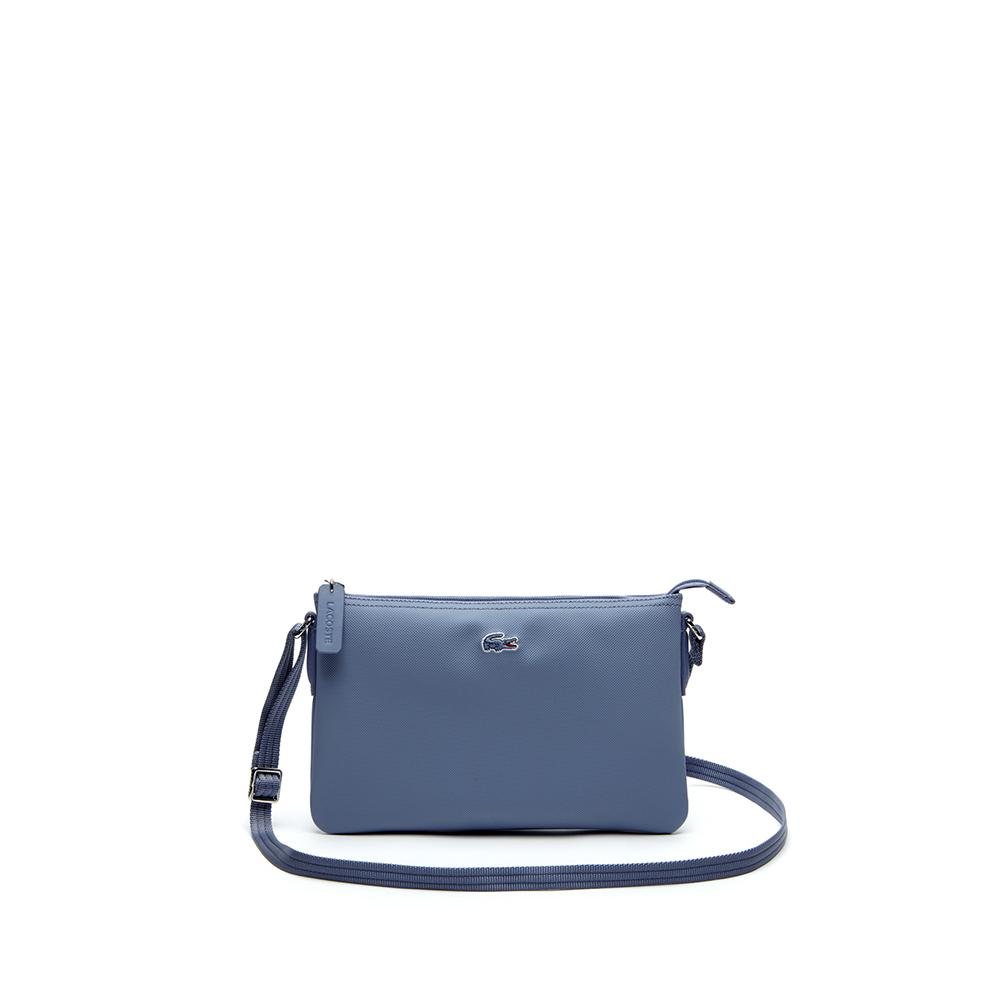 fed72bc76a Lacoste Women s L.12.12 Concept Flat Crossover Bag Stonewash NF1887PO A57