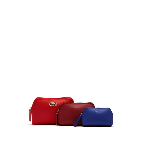 Lacoste Women's Leather Makeup Pouch Trio High Risk Combo D1 NF1803PO