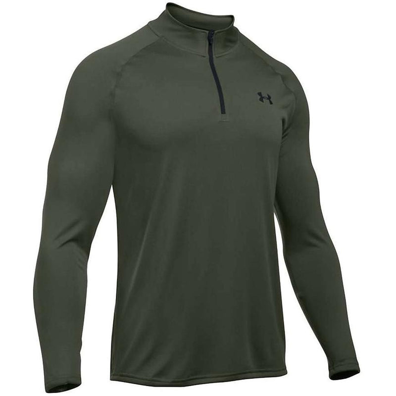 Under Armour Men's UA Tech Zip T-Shirt DTG/Black 1242220-330 - APLAZE