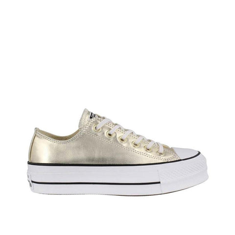 Converse Metallic Canvas Platform Chuck Taylor All Star Gold/Black/White 560249C