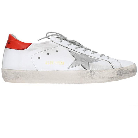 Golden Goose SuperStar White Leather/Red G30MS590.F55
