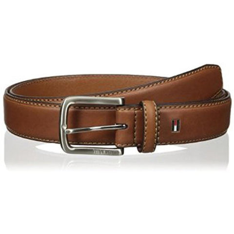 Tommy Hilfiger Men's Leather Stitch Belt Brown 11TL02X038