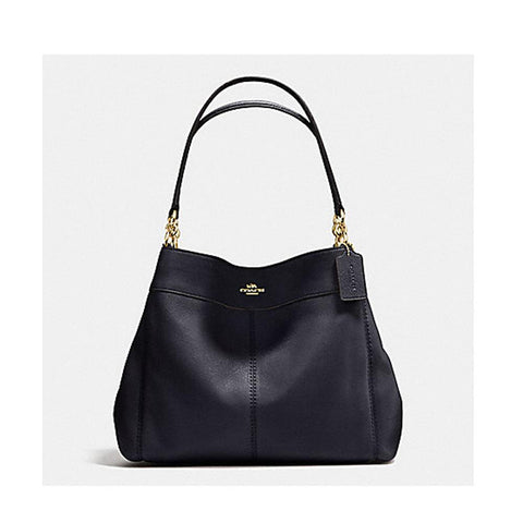 Coach Lexy Shoulder Bag In Pebble Leather Midnight F57545