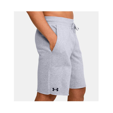 Under Armour Men's UA  Hustle Fleece Short True Gray Heather - Black 1305814-025