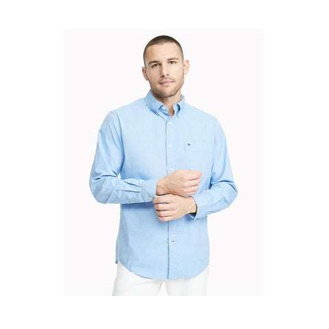 Tommy Hifiger Classic Fit Essential Stretch Shirt Collection Blue 78E5393 495