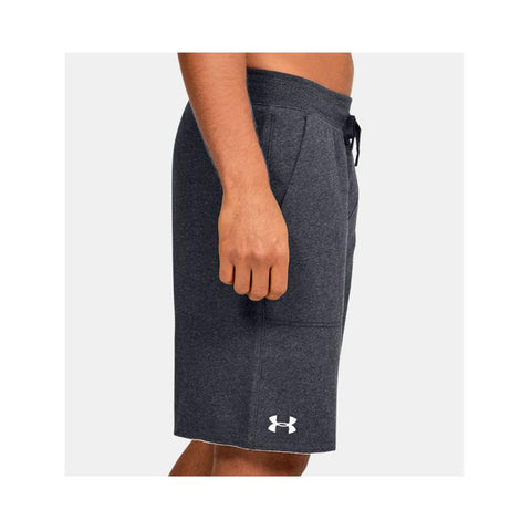 Under Armour Men's UA Hustle Fleece Short Black Light Heather/White 1305814-002