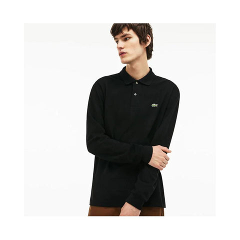 Lacoste Mens Long Sleeve Classic Pique Polo Black L1312-51 031
