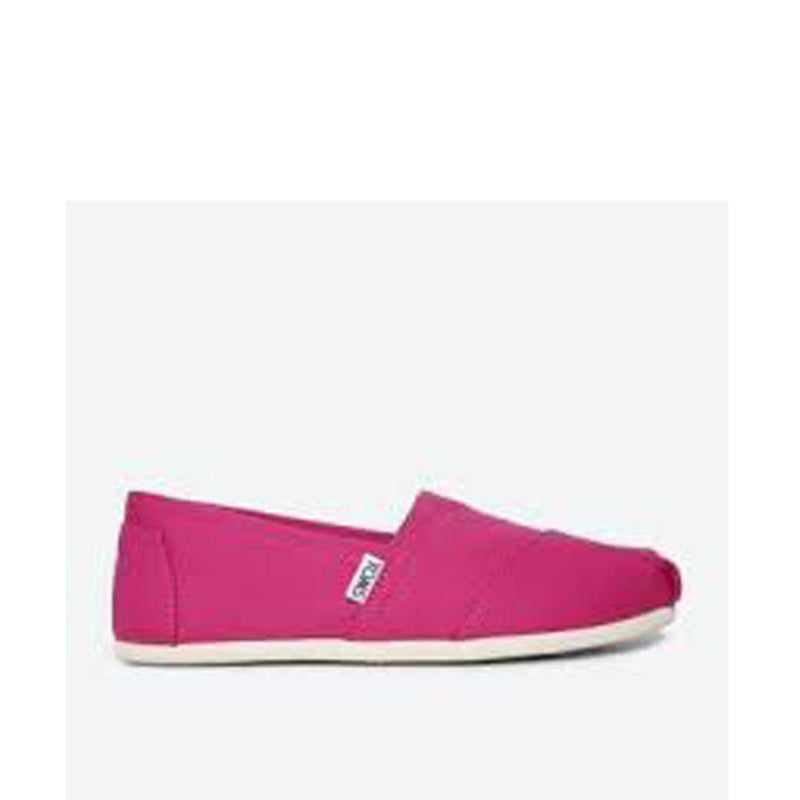 Toms Womens Canvas Slip-on Alpargata Flat Fuchsia 10009710