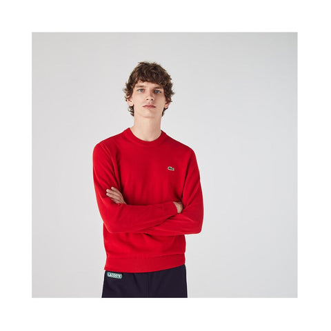 Lacoste Men's Organic Cotton Crew Neck Sweater Red AH1985-51 240