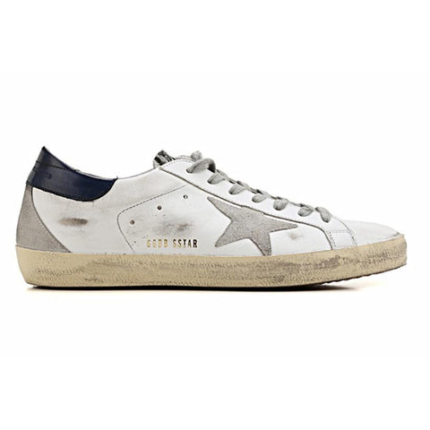 Golden Goose SuperStar White Blue Zebra Cream Sole G30MS590.B48