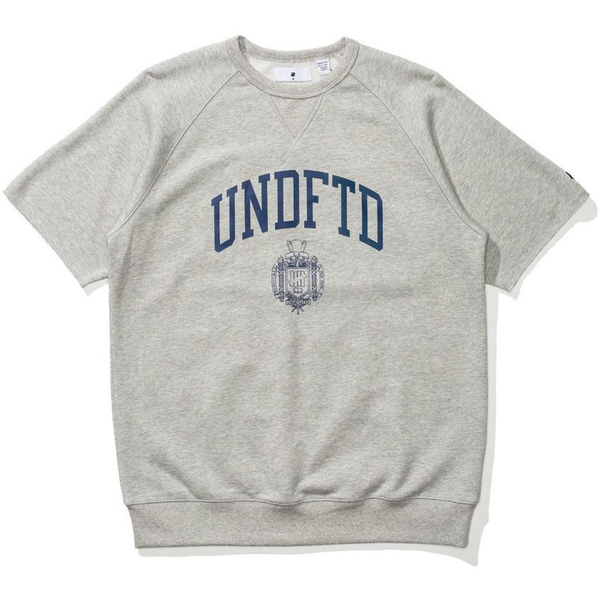 Undefeated College Short Sleeve Crewneck Heather Grey 518302