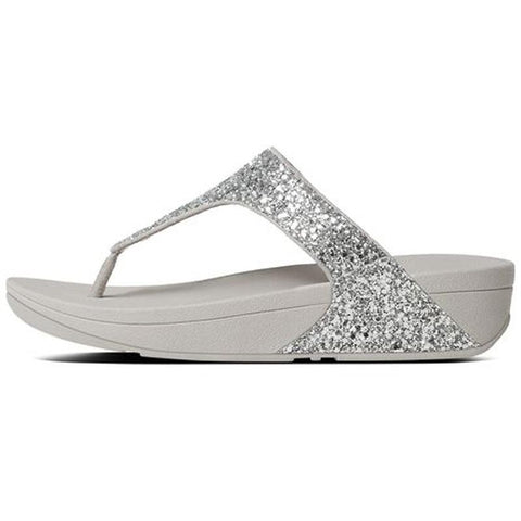 Fitflop Womens Glitterball Toe-thong Sandals Silver H25-011