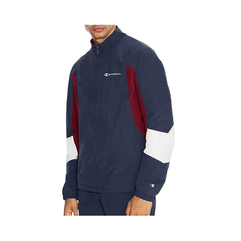 Champion Men's Woven Jacket  Imperial Indigo/Sideline Red/White  V9799