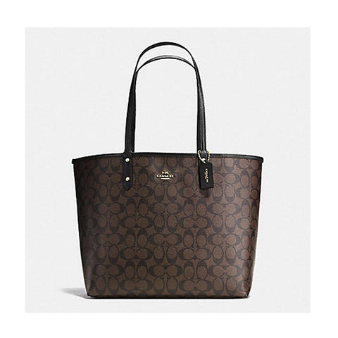Coach Reversible City Tote Signature Brown/Black F36658
