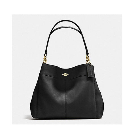Coach Lexy Shoulder Bag In Pebble Leather Black F57545