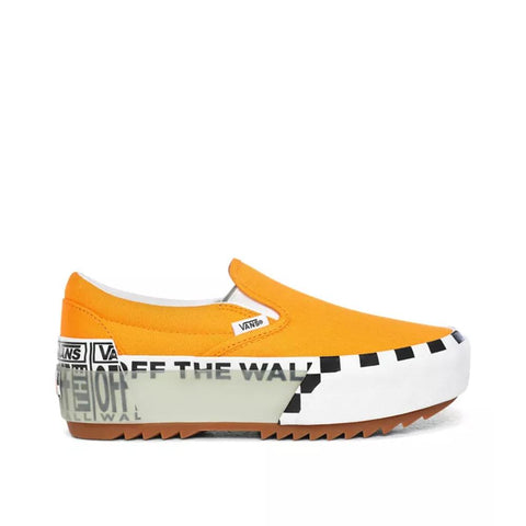 Vans Logo Stack Classic Slip-On Stacked Bright Marigold/True White VN0A4TZV1LC