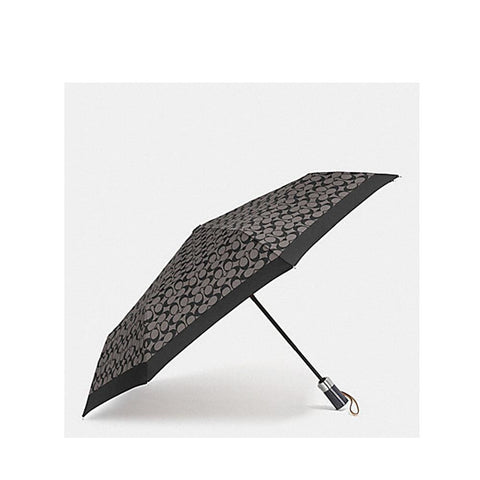 Coach Signature Umbrella Black Grey/Black F63364