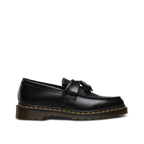 Dr. Martens Adrian Tassel Loafer Yellow Stitch Black smooth R22209001