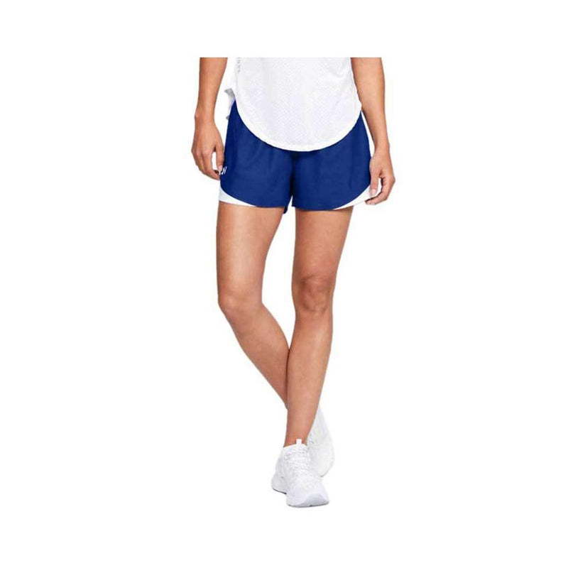 Under Armour Women's Play Up Shorts 3.0 Royal - White 1344552-401