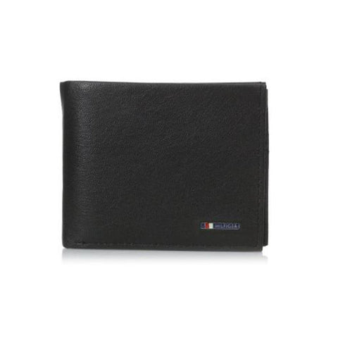 Tommy Hilfiger Men's Lloyd Multi-Card Passcase Wallet Black 31TL22X106
